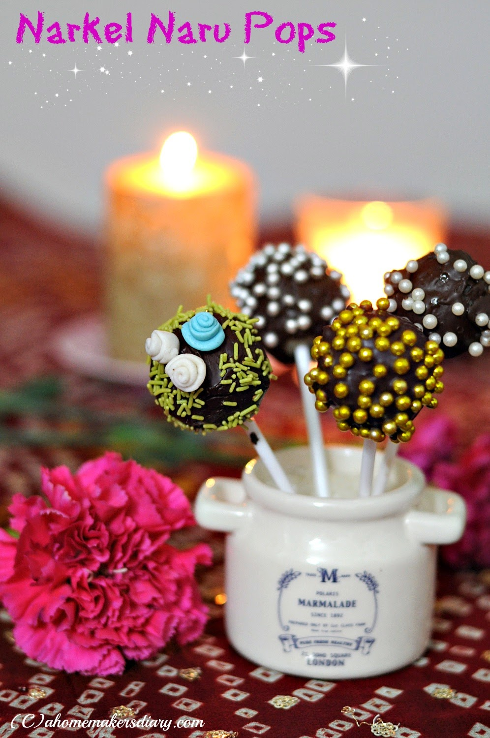 Narkel Naru Truffle and Pop: Perfect last minute dessert recipe for Diwali