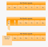 How To Create A Weekly Agenda Styled With CSS Using The Rotate Transform And Transition Properties Tutorial