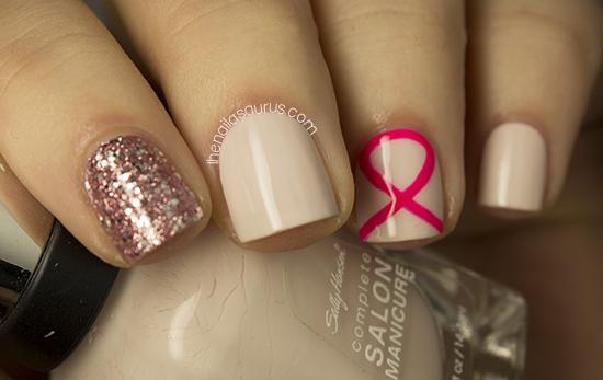 Nail Art For Breast Cancer Awareness Month The Nailasaurus Uk
