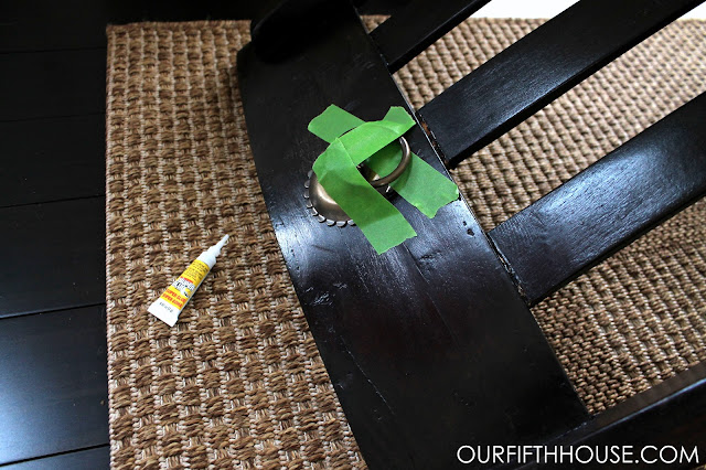 super glue hardware to chairs