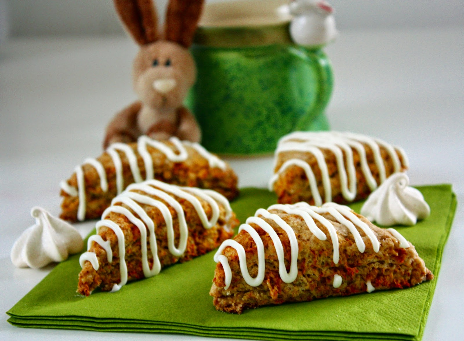 Carrot Cake Scones Cream Cheese Icing