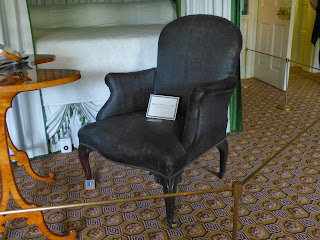 The chair that Queen Charlotte died in