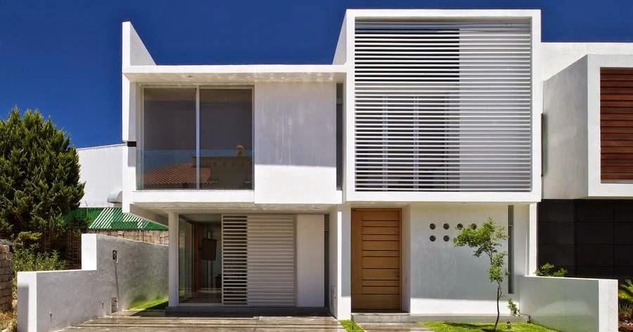 Arquitectura de casas: las fachadas de las viviendas.
