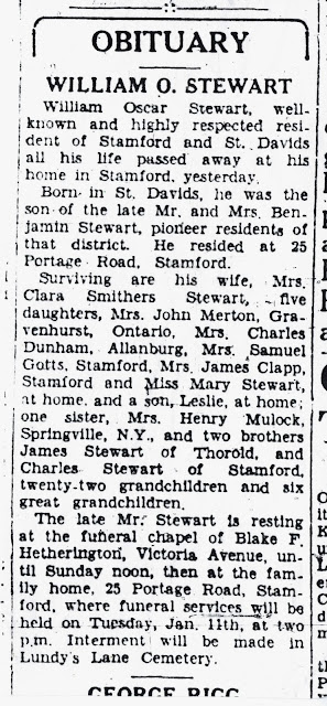 William Oscar Stewart obit