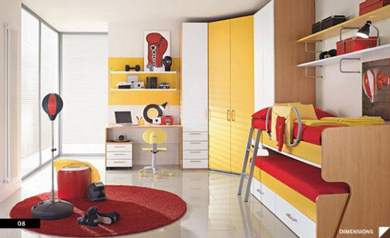 Desain Interior Kamar Laki-Laki - Boxing theme Bedroom