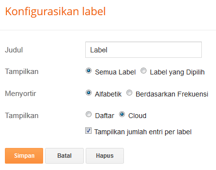 Costumize / Modifikasi Label Blogspot Dengan CSS