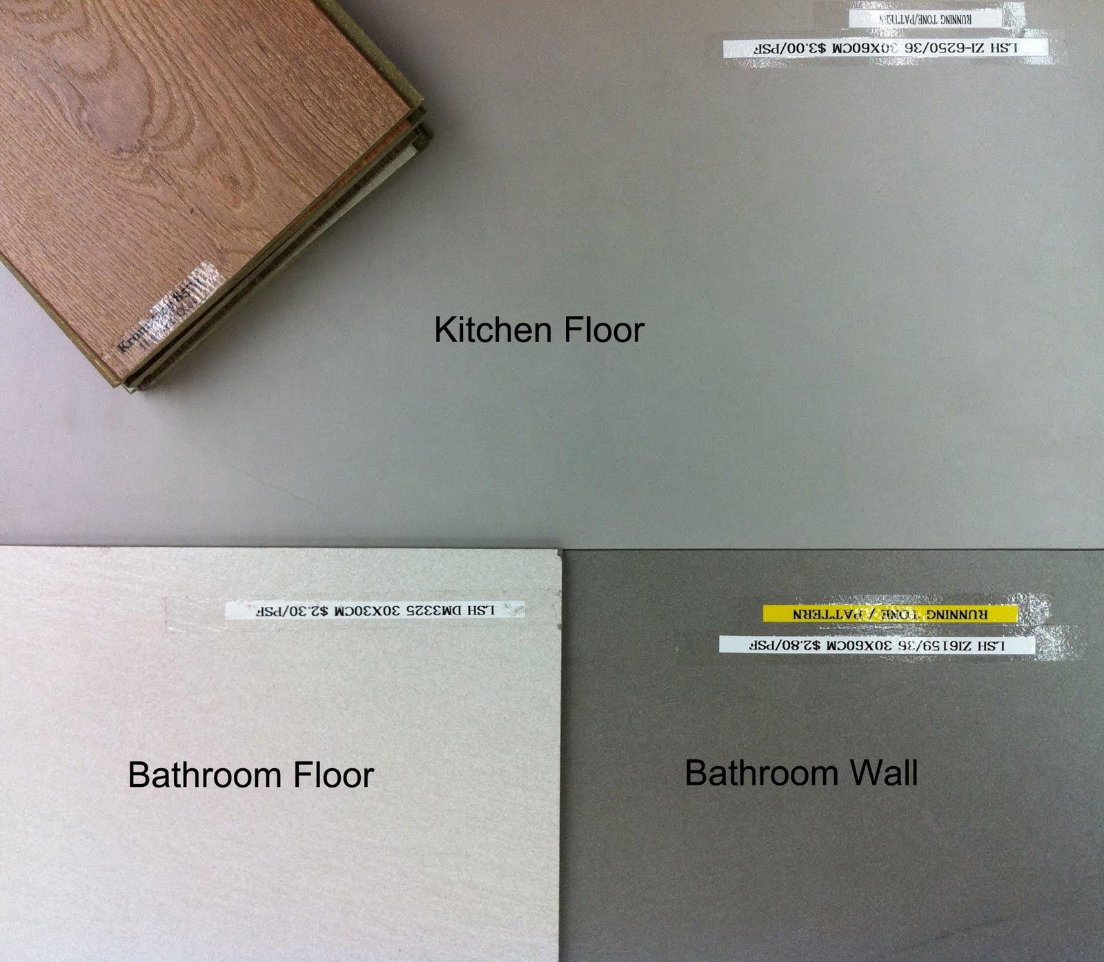 Our Crib: Floor Tiles Selection Shortlist