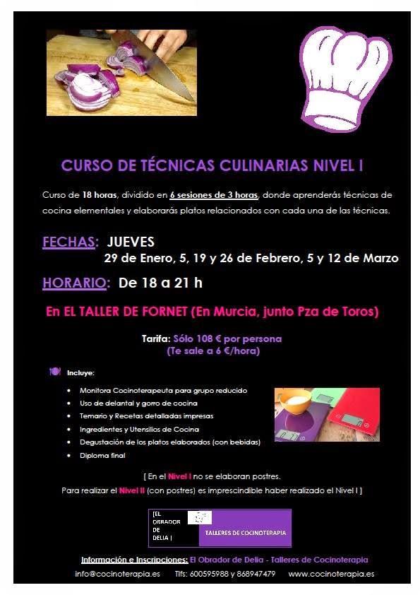 Curso de t cnicas culinarias nivel 1 for Tecnicas basicas culinarias