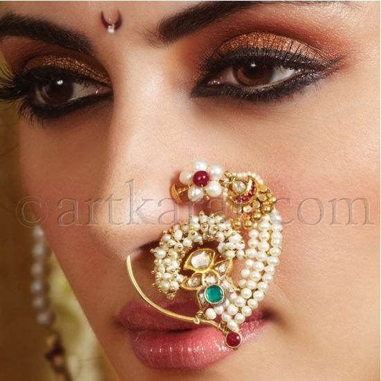 Girls Stuff Bridal Nose Rings Beautiful And Traditional Nose
