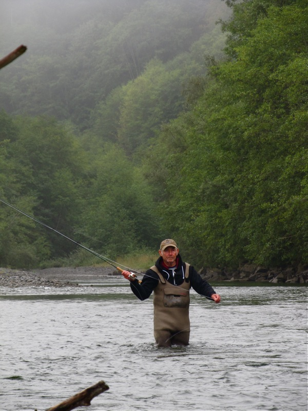 Central alberta fly tying club fly fishing for salmon on for Fishing vancouver island