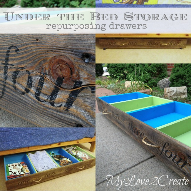 MyLove2Create, Under the Bed Storage, Repurposing Drawers