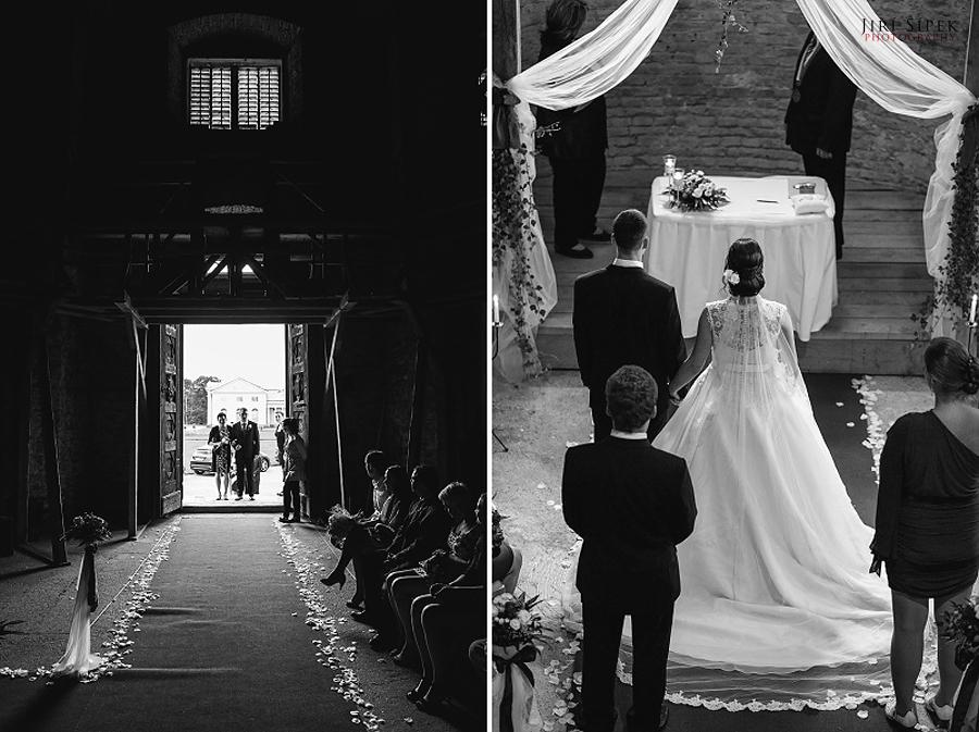 Nádherný svatební obřad na zámku Kačina