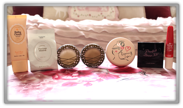 Jolse Order #10 Etude House Makeup Haul Review 2015 beauty blogger base peach any cushion shading dreaming swan pact rosy lips brow kit