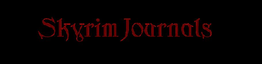 Skyrim Journals