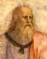 Plato - snapshot from Raphael's The School of Athens. Image from http://drishtantoism.wordpress.com/philosophers/plato/