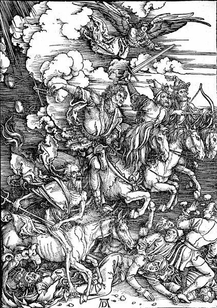 Los cuatro jinetes del Apocalipsis, de Alberto Durero.
