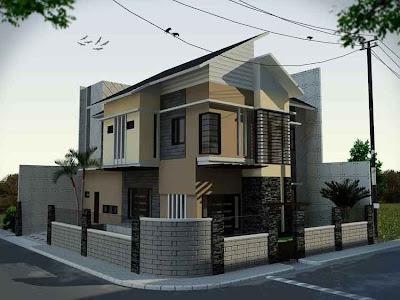 Gambar Desain Rumah Minimalis Modern Pojok-02