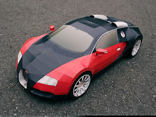 Car - Bugatti Veyron Papercraft