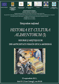 Afişul oficial al simpozionului naţional Historia et Cultura Alimentorum (I), 23.09.2011..