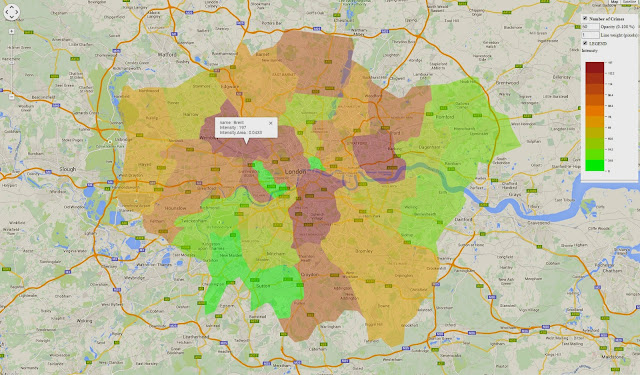 Interactive maps of Crime data in Greater London