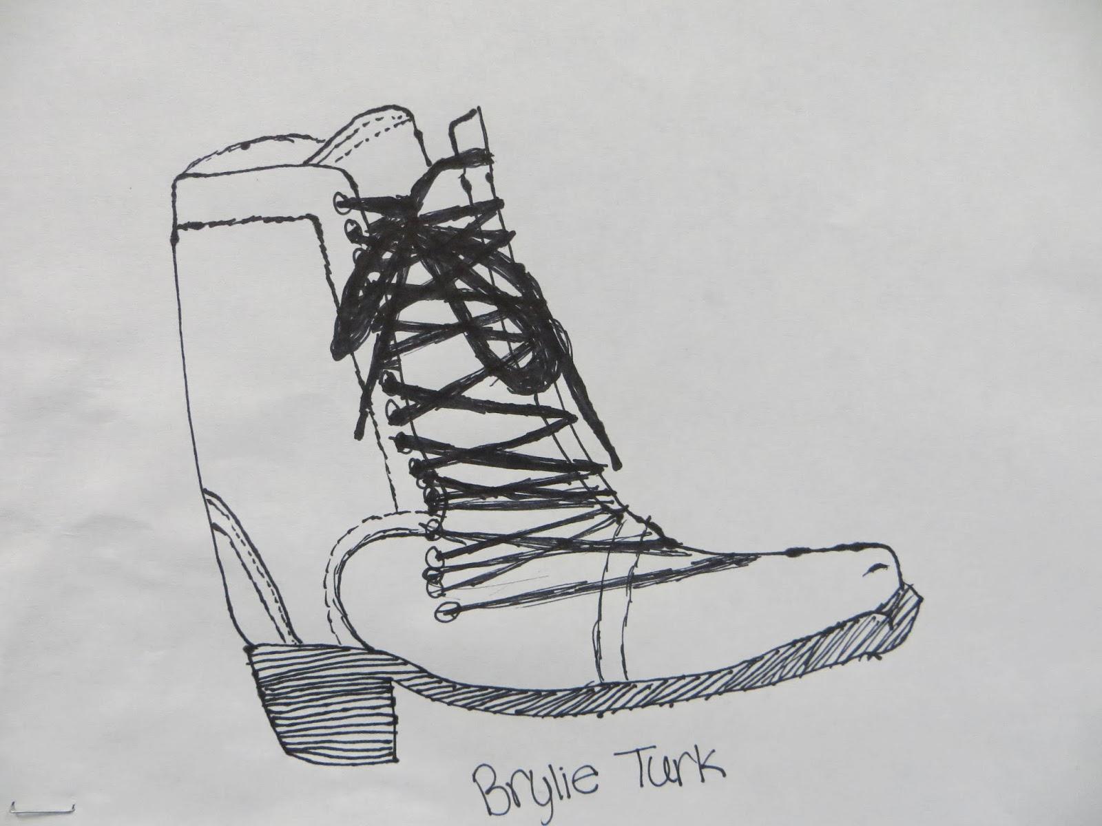 Contour Line Drawing Shoes Lesson Plan : Shana's art room : contour shoe drawings
