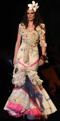 trajes de flamenca Aurora Gaviño 2013