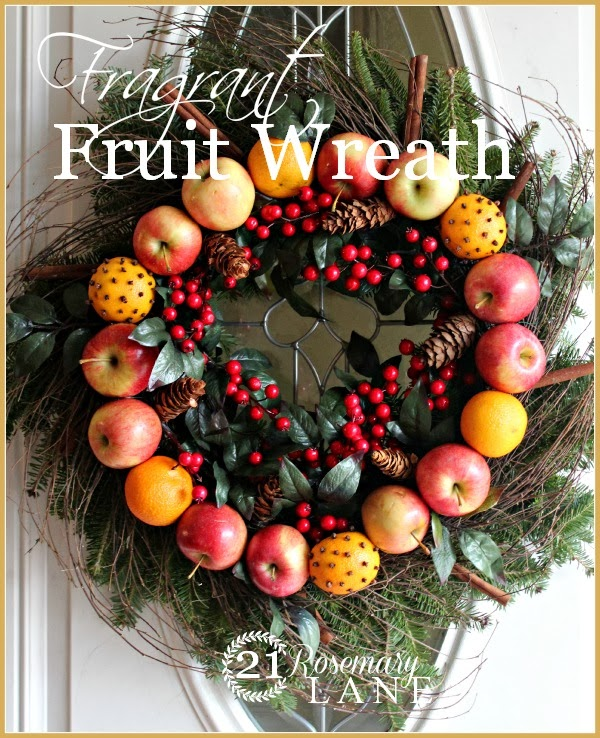 how to make your own fragrant fruit holiday wreath