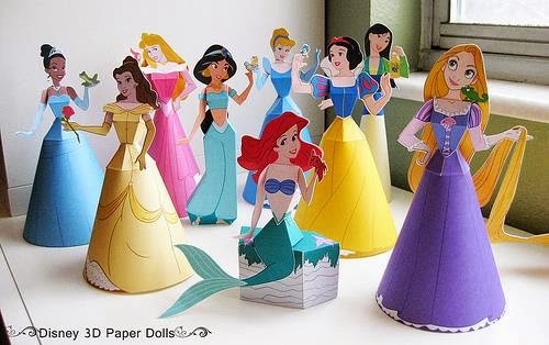 Papercraft Princesas Disney
