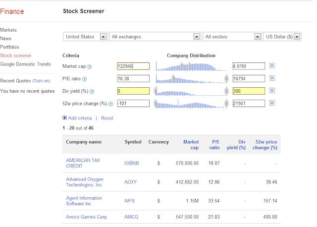 Herramientas Inversión bolsa gratuitas stock screener