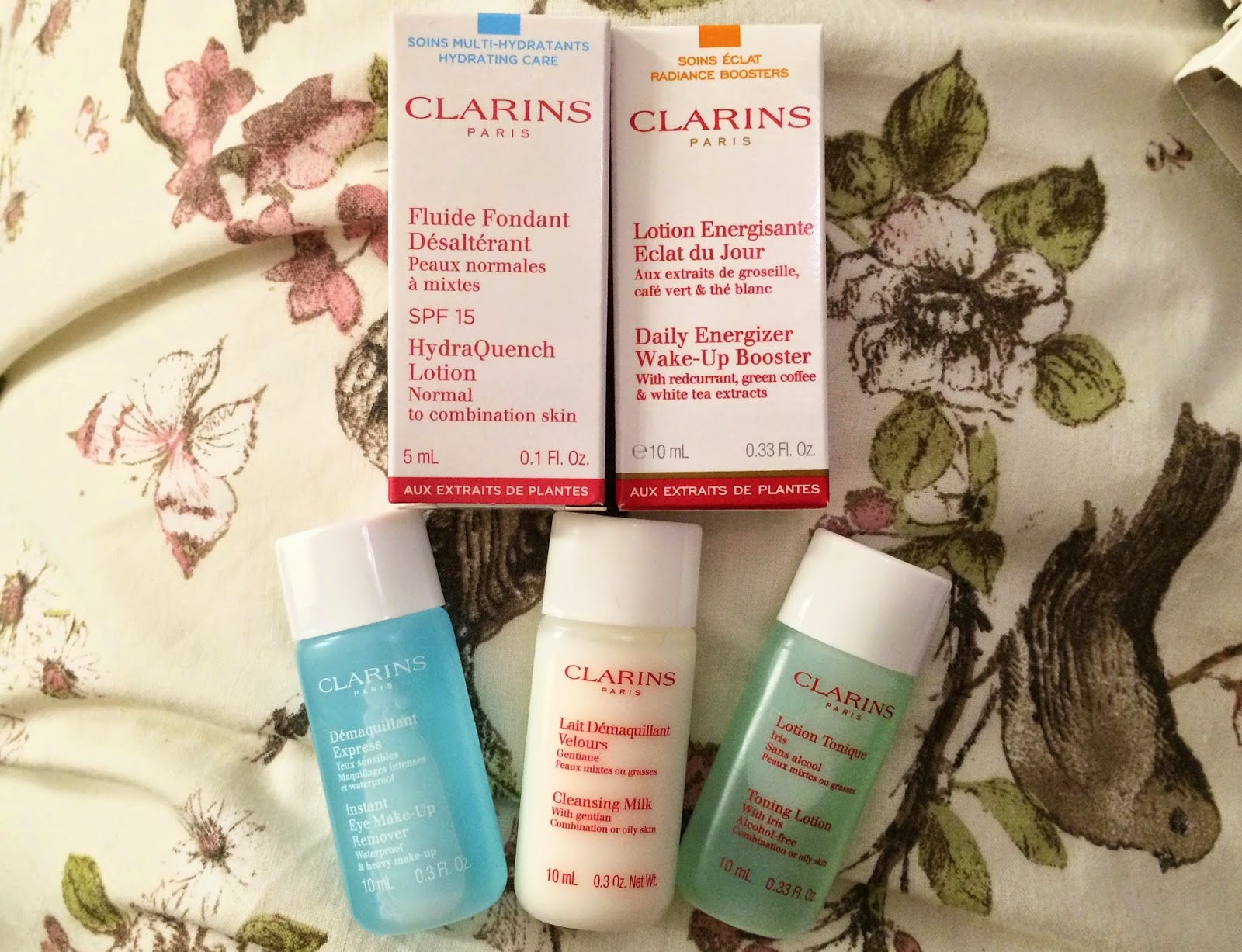 Clarins testers