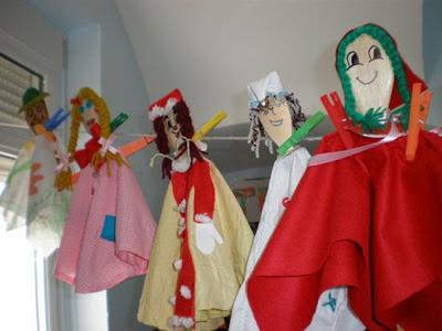 marionetas hechas con cucharas