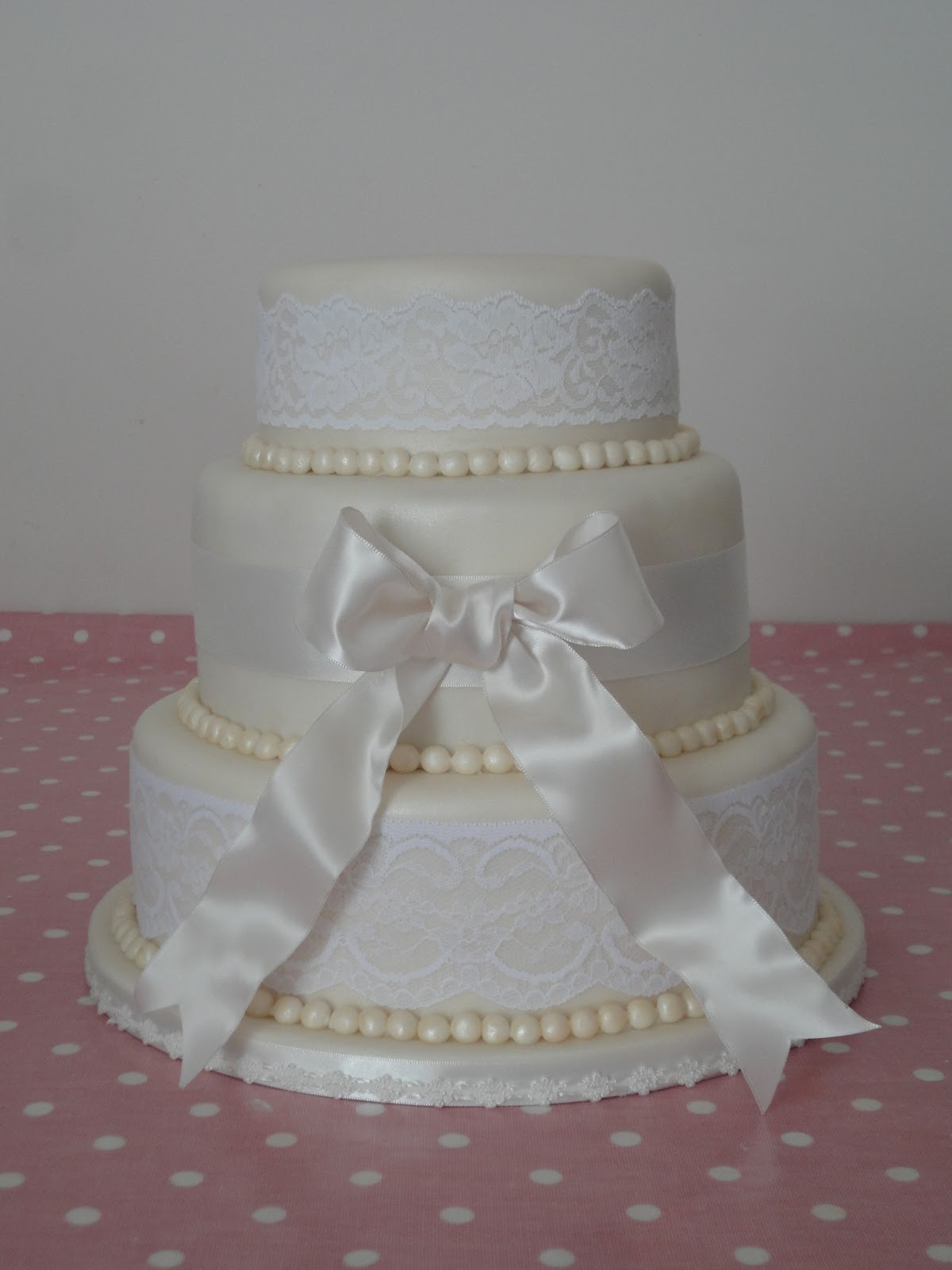 Project Cake Lace and Pearl Wedding Cake