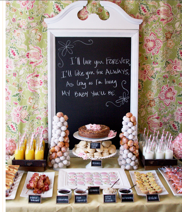 charming farmhouse brunch baby shower from hostess with the mostess