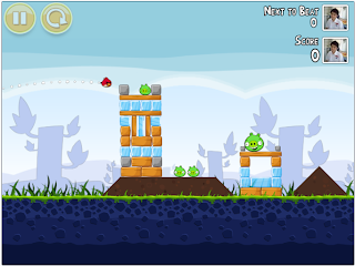 Angry bird gameplay in Google+