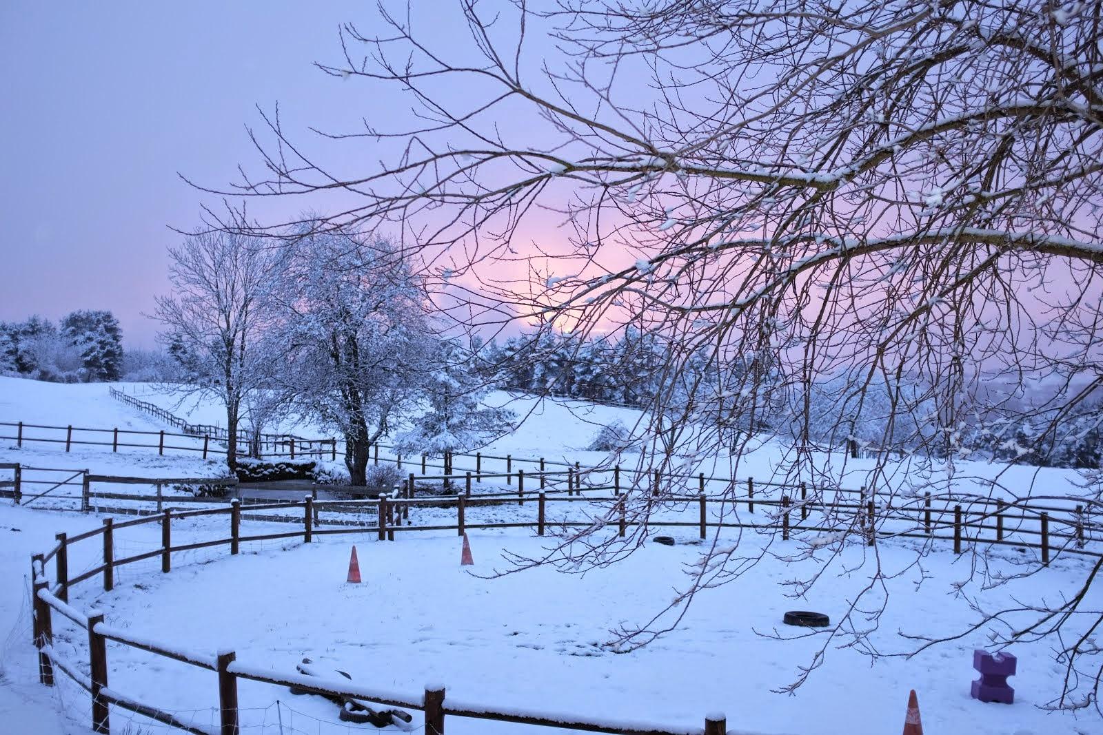 Le soir tombant en hiver