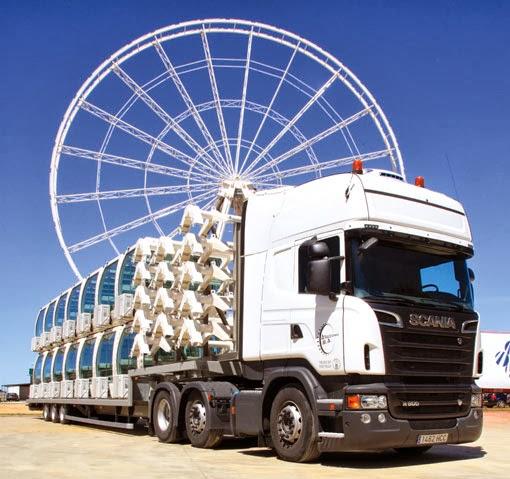 Noria Mirador Princess, trailer de transporte