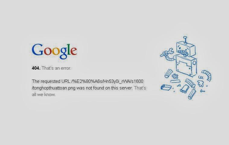 Lỗi 404 và cách xử lý cho blogspot
