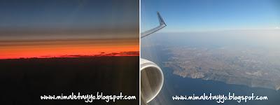 En el avión camino a Malta
