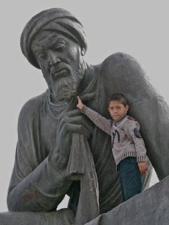 Al-Khorezmis statue Khiva