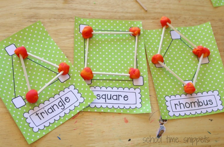 Playdough Geometry: Exploring 2D & 3D Shapes | School Time Snippets