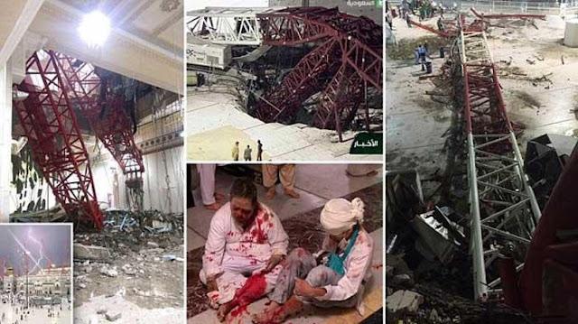 musibah crane jatuh di masjidil haram mekkah-1