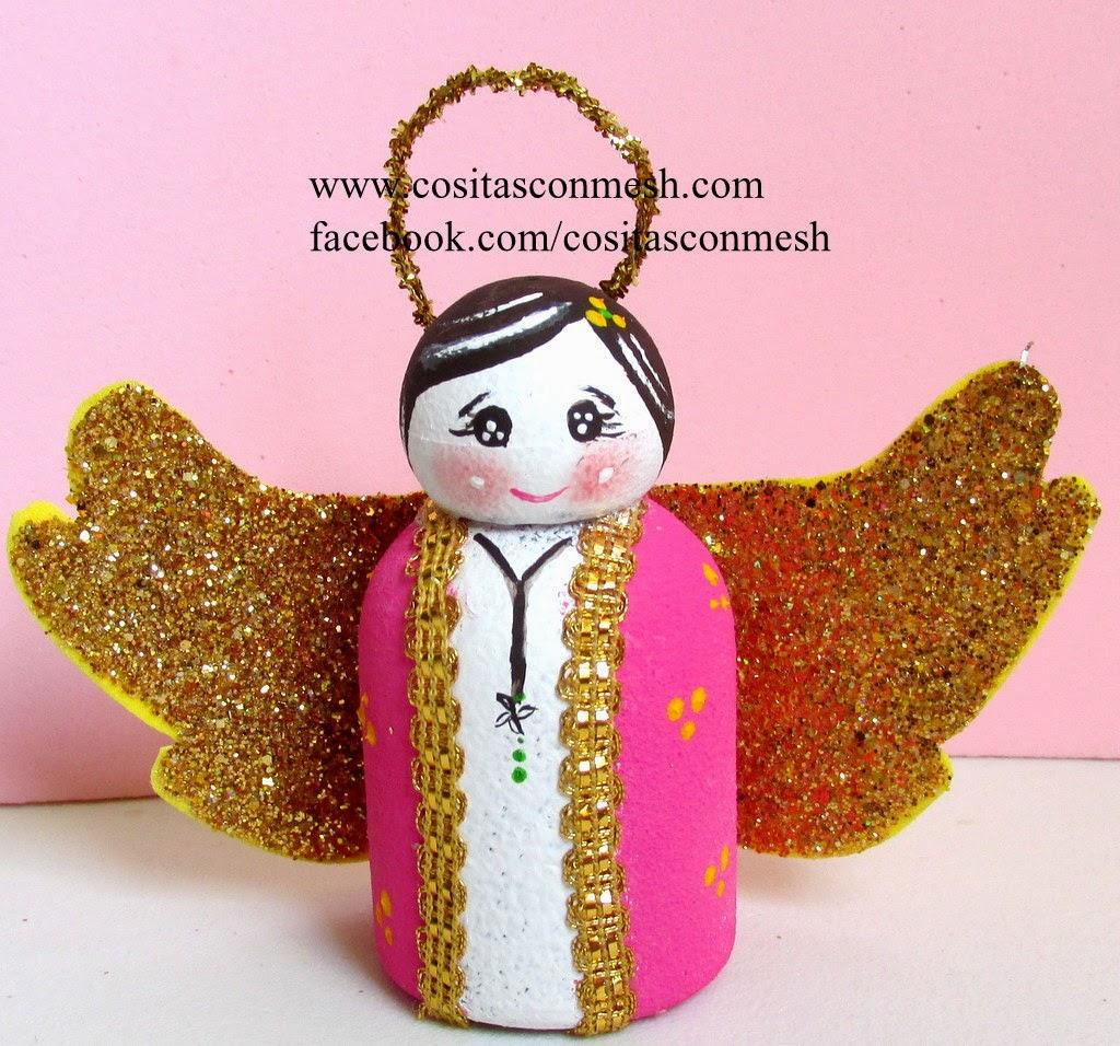 Cómo hacer un angelito con botellas recicladas ~ cositasconmesh