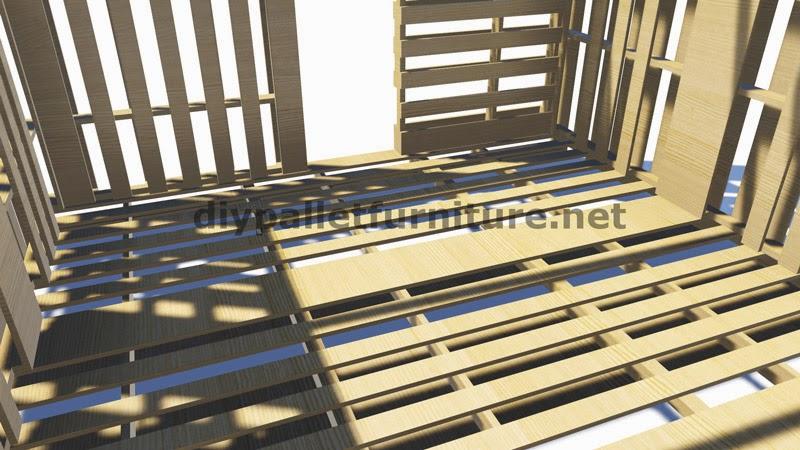 Planos 3d de como hacer un almac n o - Estructuras con palets ...