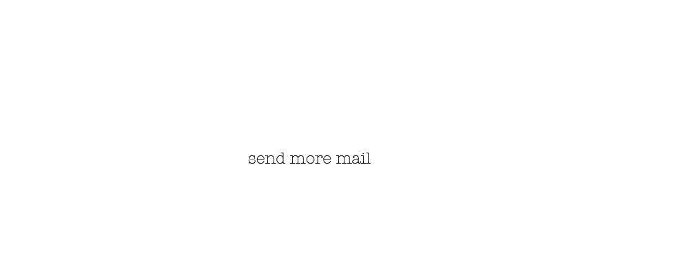send more mail