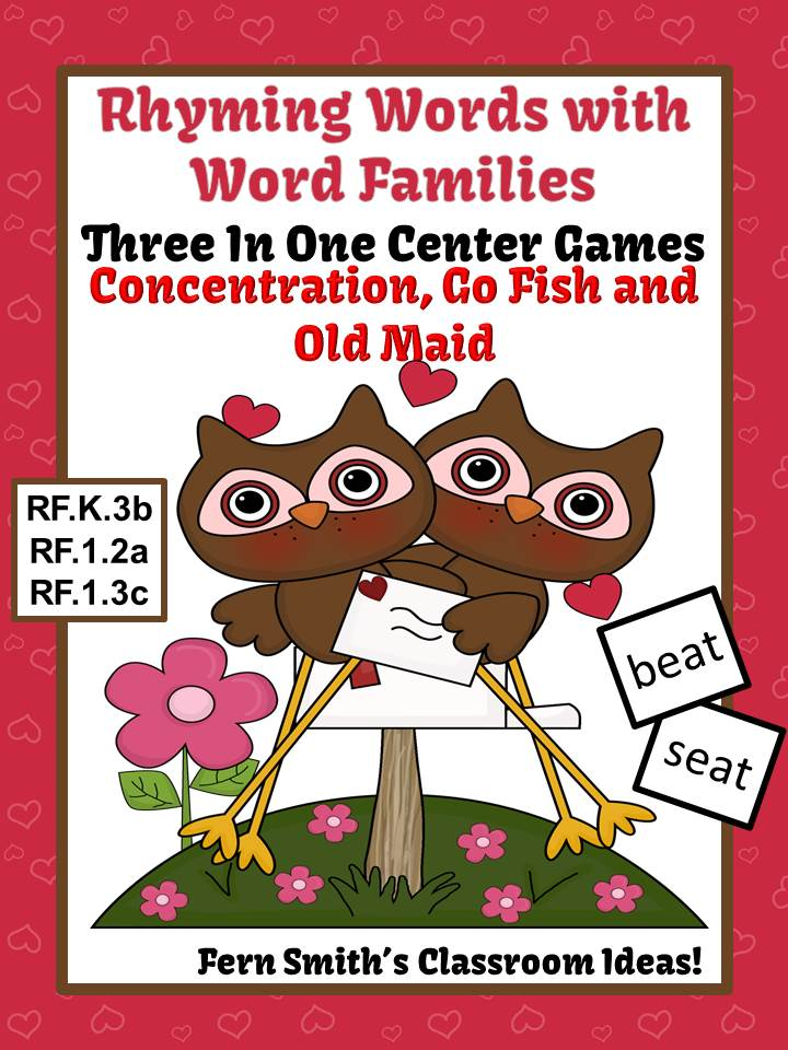 http://www.teacherspayteachers.com/Product/Valentines-Rhyming-Words-Word-Families-Center-Games-Interactive-Notebook-Pages-1047225