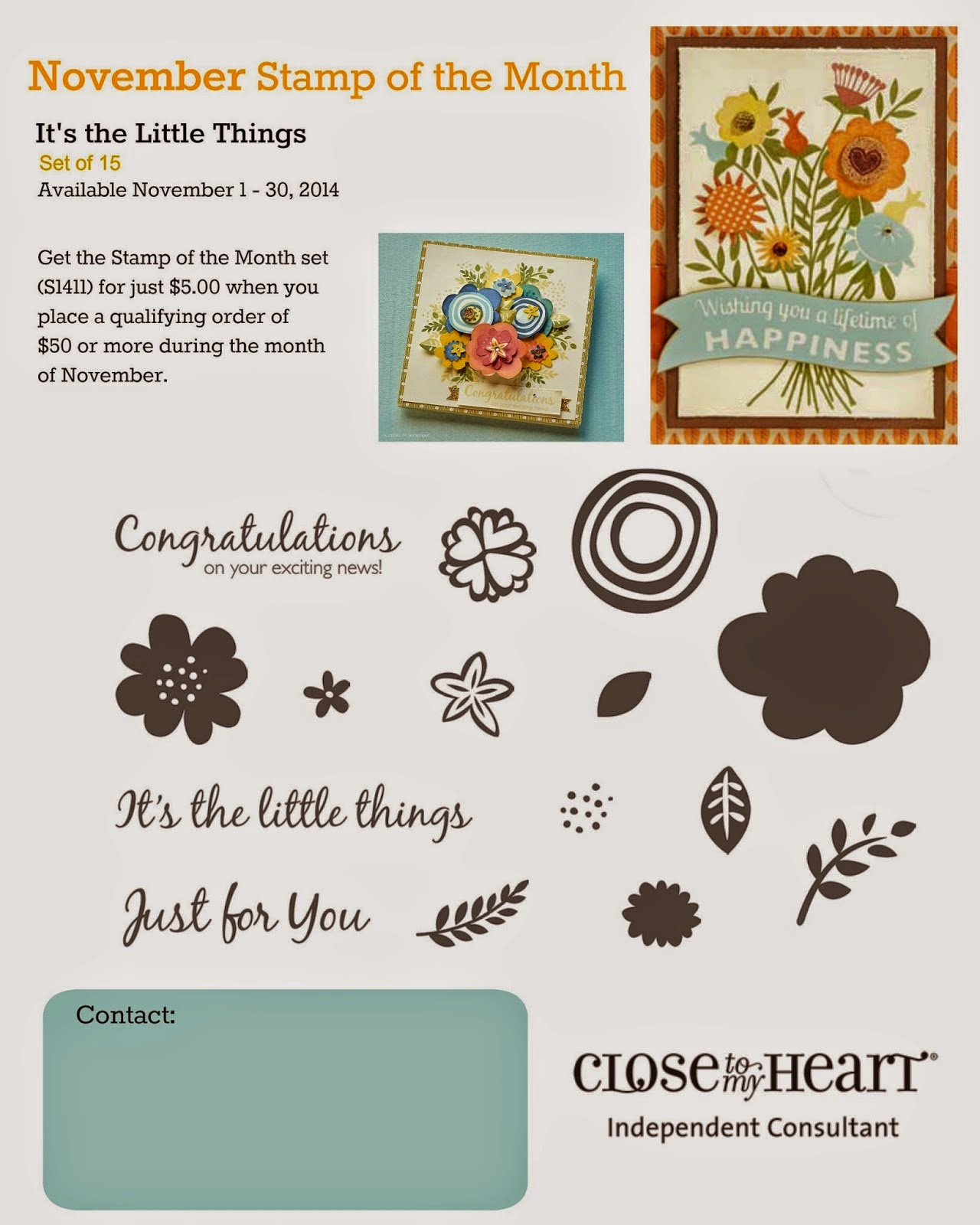 CTMH Stamp Of The Month Stamp Set