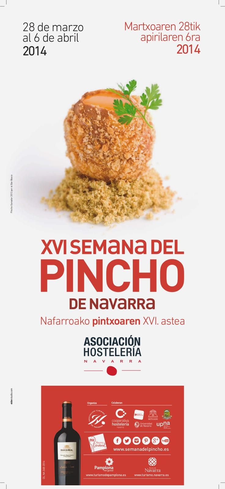 Cartel XVI de la Semana del Pincho de Navarra
