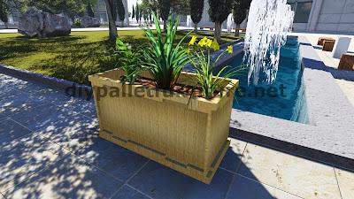instrucciones y planos 3d de como hacer una jardinera con palets. Black Bedroom Furniture Sets. Home Design Ideas