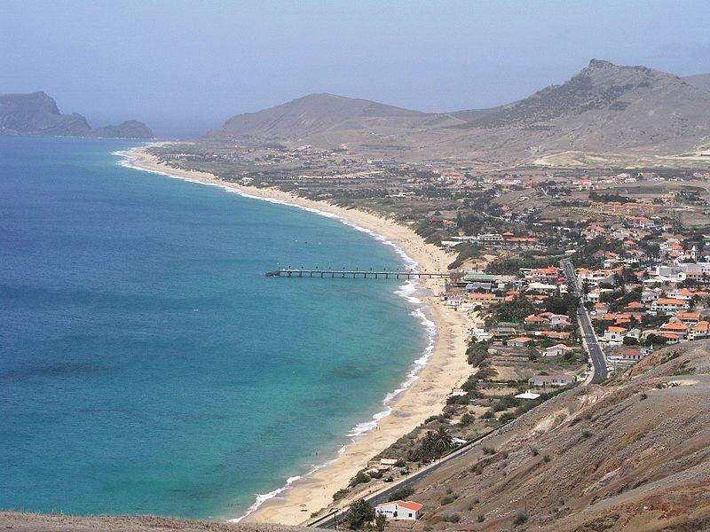 Vila Baleira beach, Porto Santo, Madeira