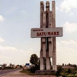 Satu Mare Romania entrance sign by jaguarjulie